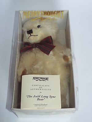 Merrythought Limited Edition Bear with Growler AULD LANG SYNE, Boxed + Cert