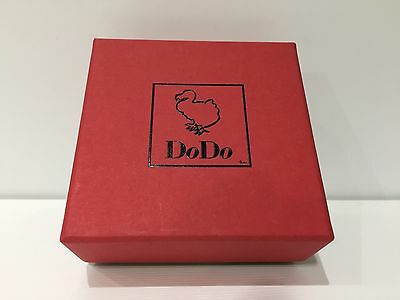 New - DODO - Estuche Box Case Scatola - Carton Paper -Red - 8,5 x 8,5 x 4 cm