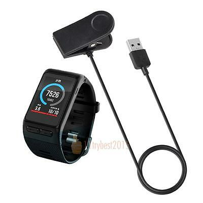 1m USB Clip Charging Cradle Cable Charger For Garmin VivoActive HR Smart Watch