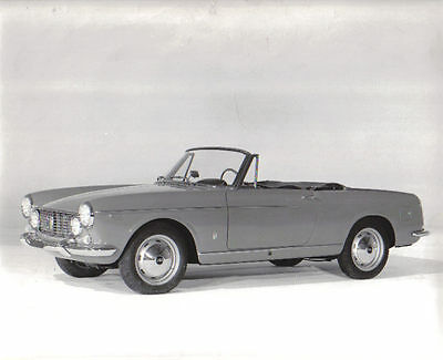 Fiat 1600 S Cabriolet circa 1963-65 original black & white Press Photograph