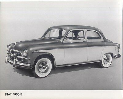 Fiat 1900 B Saloon 1956-59 original black & white Press Photograph