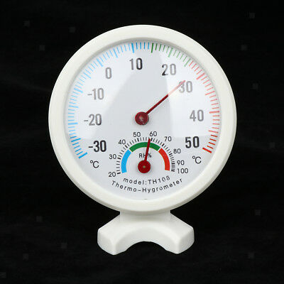 Round Small Indoor Analog Temperature Humidity Meter Thermometer Hygrometer