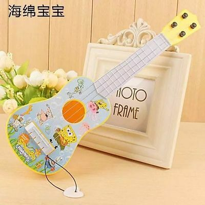 Lot Popular Cartoon plastic guitar simulation instrument Kids music Toys O257