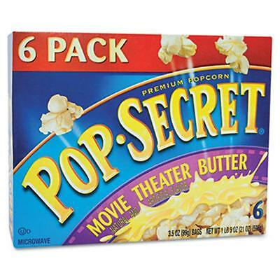 Diamond Foods Microwave Popcorn, Movie Theater Butter, 3.5 oz Bags, 6 Bags-Box