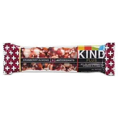 Kind Llc 17211 Plus Nutrition Boost Bar, Cranberry/Almond, 1.4 oz, 12/Box