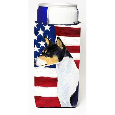 Usa American Flag With Basenji Michelob Ultra bottle sleeves For Slim Cans 12...