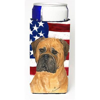 Usa American Flag With Bullmastiff Michelob Ultra s For Slim Cans 12 oz.