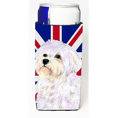 Maltese With English Union Jack British Flag Michelob Ultra bottle sleeves Fo...