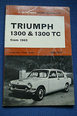 Triumph 1300 + 1300TC from 1965 Olyslager Motor Manual No.81