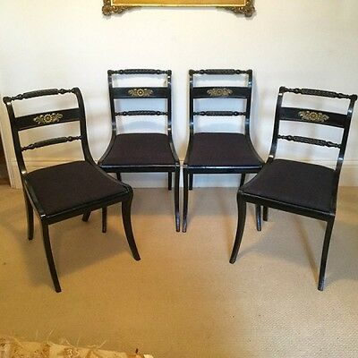 Set of four Regency dining chairs      Ref a13426