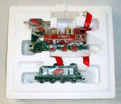 Coca Cola Hawthorne Village Christmas Holiday Express Train Set First 4 Issues