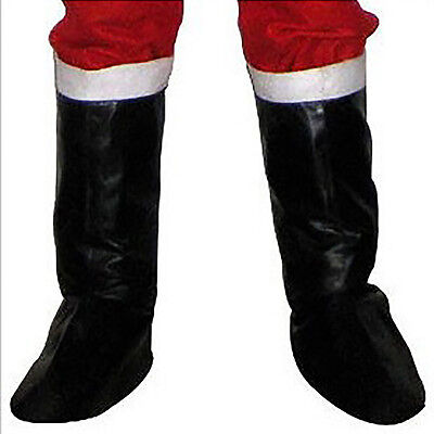 Santa Claus Boots Christmas Deluxe Leather Shoes Covers Decoration Pefect Gift