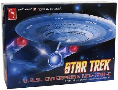 Star Trek U.S.S. Enterprise NCC-1701-C 1:1400 AMT Model Kit Bausatz AMT721 USS