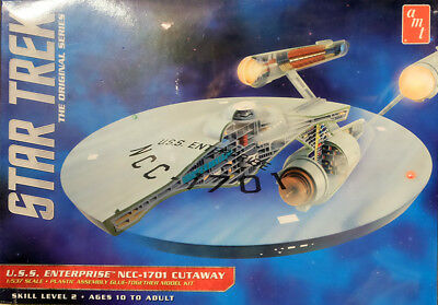 Star Trek TOS U.S.S. Enterprise NCC-1701 Cutaway 1:537 AMT Model Kit AMT891 USS