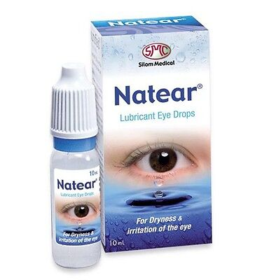 NATEAR ARTIFICIAL TEARS LUBRICANT EYE DROPS FOR DRYNESS & IRRITATION 10ml