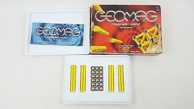 Geomag Colour Color 42 Yellow Complete Boxed Magnetic Game