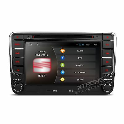"Radio Gps Android Para Volkswagen Seat Skoda.lcd Tactil 7"" Quad Core Mp3 Wifi"