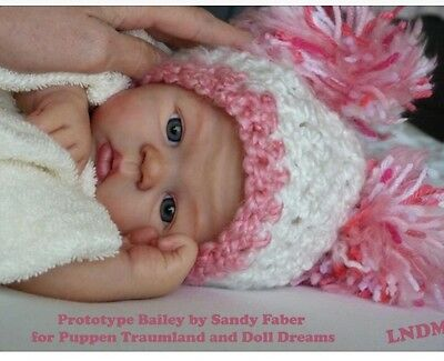 ❤️Beautiful Reborn Doll Baby❤️ Custom Made From Bailey Kit By Sandy Faber ❤️