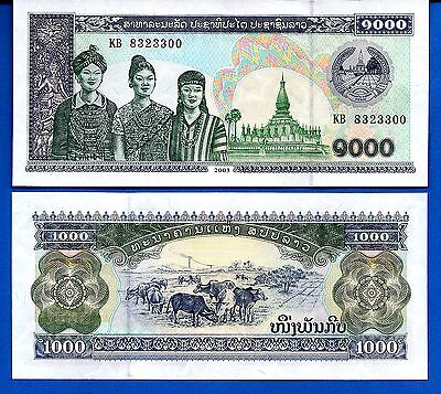 Laos P-32Ab 1000 Kip Year 2003 Uncirculated Banknote