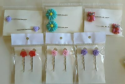 Wholesale joblot hair accessories 6 pairs hair slides, grips brand new (pack H)