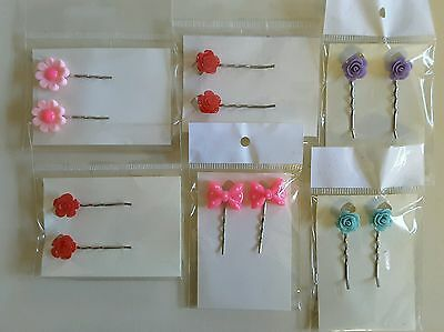 Wholesale joblot hair accessories 6 pairs hair slides, grips brand new (pack B)