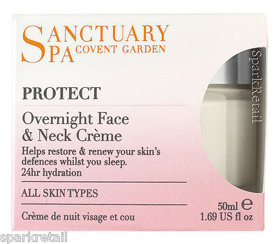 Sanctuary Spa Protect OVERNIGHT Face & Neck Night Creme Cream Moisturiser 50ml