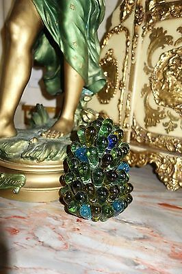 Vintage Murano Czech Blown Glass Beaded Cluster Grape Bulb Cover Shade
