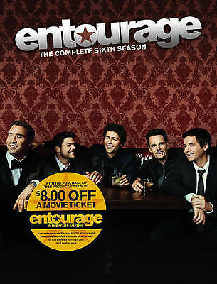 Entourage: The Complete Sixth Season (DVD, 2015, 3-Disc Set) NEW SEALED