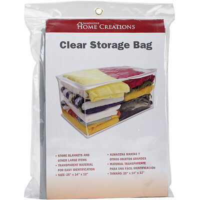 """Clear Storage Bag-, Set Of 3"""