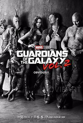 Guardians Of The Galaxy 2 Marvel Movie Poster Film A4 A3 Art Print Cinema