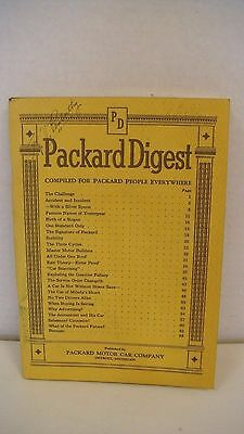 Original Rare 1937 Packard Digest Motor Car Company Booklet 68 Pages