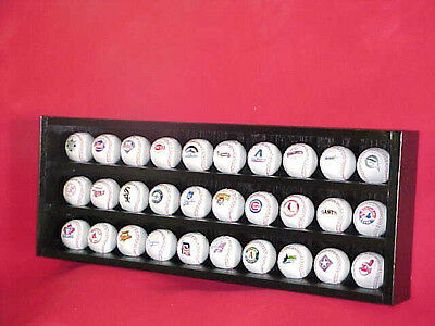 Baseball Display Case / Hockey Puck Display Holds 30 with Acrylic Doors
