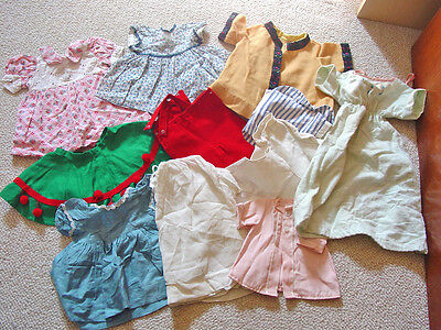 Antique DY DEE Doll EFFANBEE CLOTHING LOT 11 Pieces DRESSES Shirts Nightgown