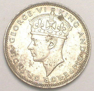 1939 H Hong Kong 10 Cents King George VI Coin