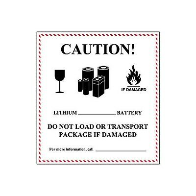 Tape Logic Labels Caution, Lithium Battery H&ling 4 5/8x5 500 Per Roll