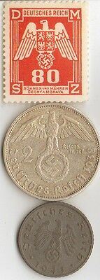 -*WW2 - *us  and *german   coins/STAMPS  +  *free...