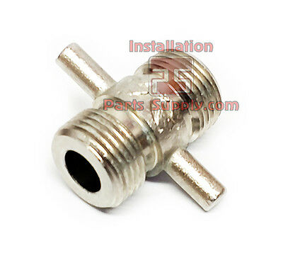 2-Way Draft Beer Line Duplex Cleaning Coupler Attachment Soda Hose Kegerator Bar