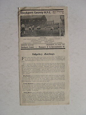 Stockport County v Managers & ex Internationals XI 1951 Newton,Stevenson, Morris