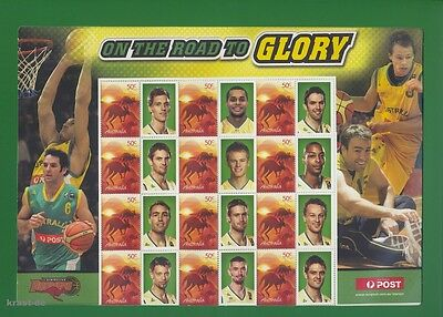 Australien - 2005 Australia Boomers On The Road To Glory Basketball Bogen