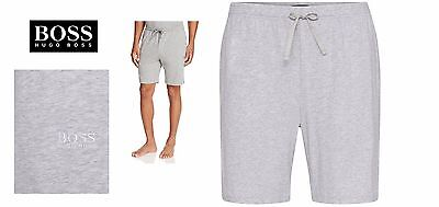 0d454de38 Hugo Boss Men's Heather Grey Cotton Gym Lounge cinch tie Sweat Jog Sleep  Shorts