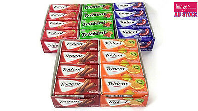 12 Packs Expired Trident Sugar Free Gum Cleans and Protect Teeth Dental Health