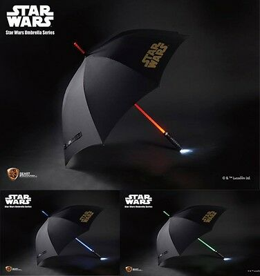 Star Wars Light Up Lightsaber Umbrella - Features 3 Colours in 1! Beast Kingdom