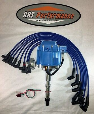 small cap amc jeep 290 304 343 360 390 401 blue hei distributor amc jeep 1967 90 290 304 343 360 390 401 hei distributor blue plug wires usa