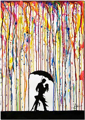 Street Art Tempest Watercolor High Quality Canvas Print Poster 36X24""