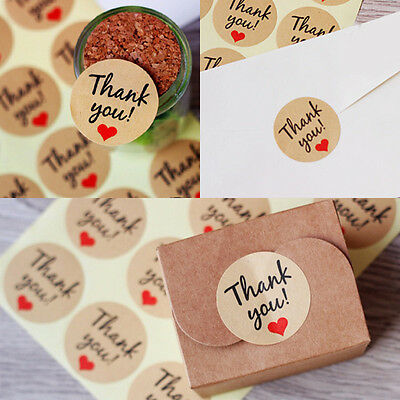 120 x Thank You Sticker Labels Seals Craft Wedding Favours Envelope Card Package