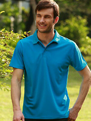 Mens Breezeway Quick Dry with Sun Protection Casual Sports Basic Polo Top Shirt