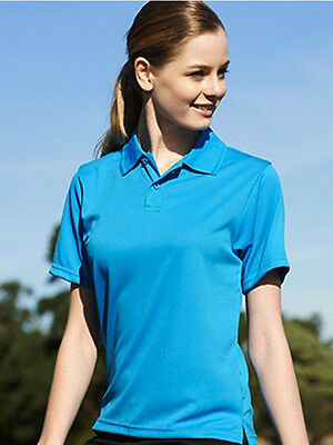 New Ladies Breezeway Quick Dry with Sun Protection Casual Sports Basic Polo Top