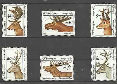 Timbres Animaux Bulgarie 3095/3100 o lot 16478
