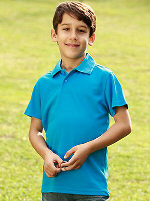 Kids Quick Dry Casual Sports Basic Polo Top Shirt with Anti Bacterial Treatment