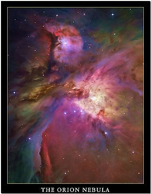 Stunning Orion Nebula Space Universe Photo Canvas Print Poster 24X18""